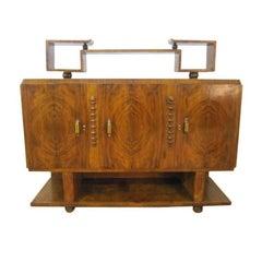French Art Deco Sideboard Credenza Bakelite Handles