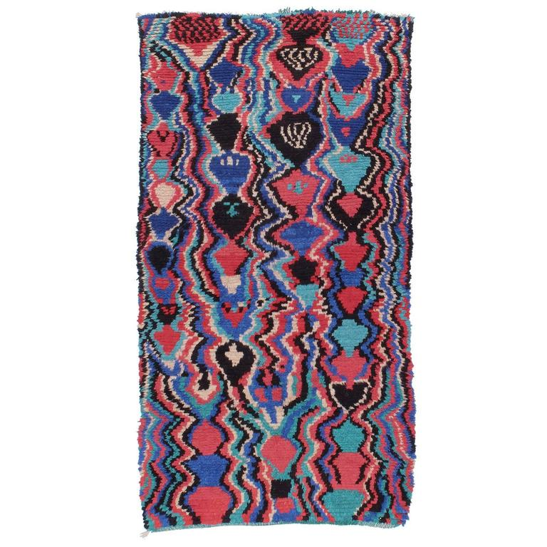 Psychedelic Azilal Berber Moroccan Rug
