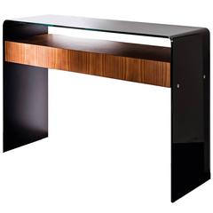 Glass and Wood Console