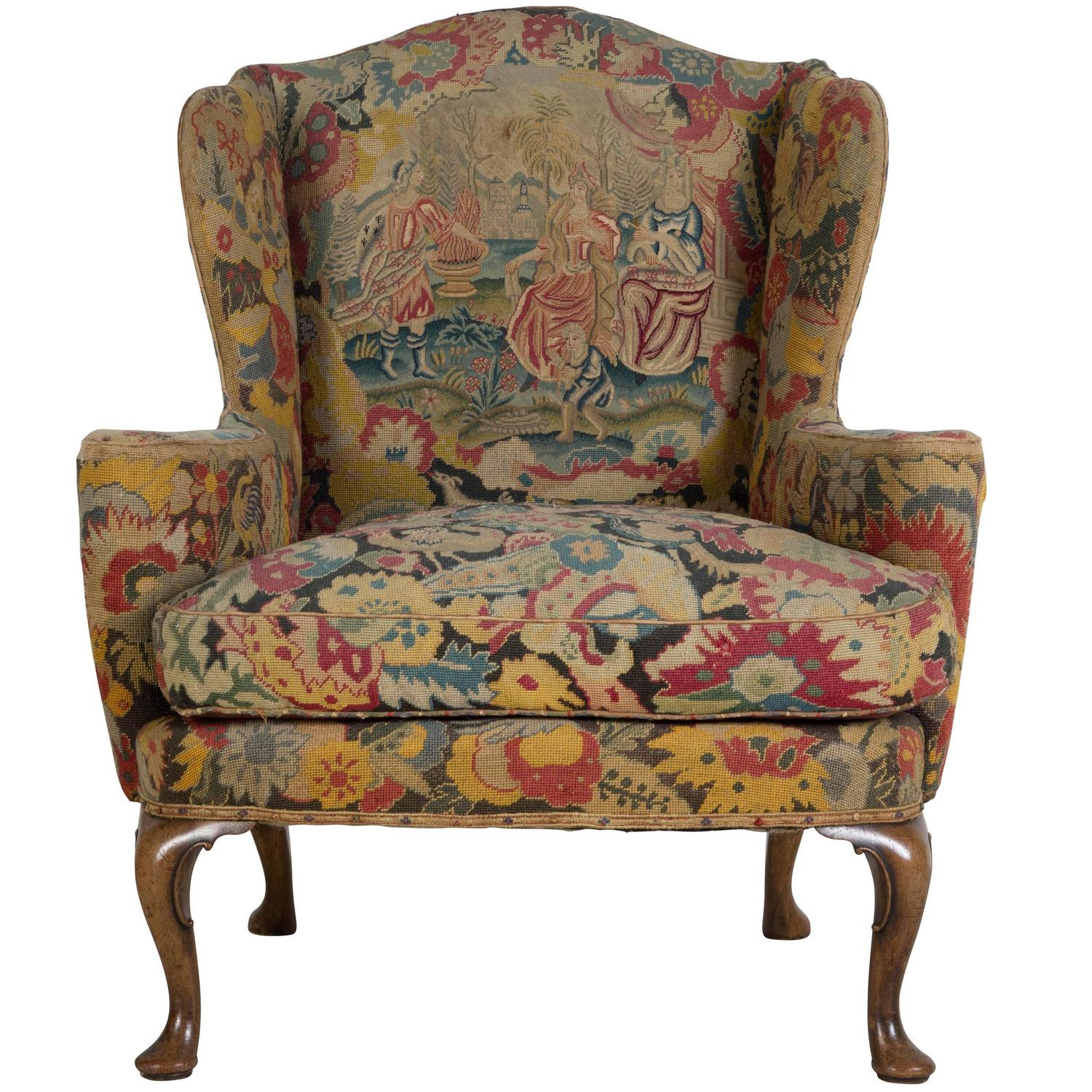 george ii wing armchair for sale at 1stdibs. Black Bedroom Furniture Sets. Home Design Ideas