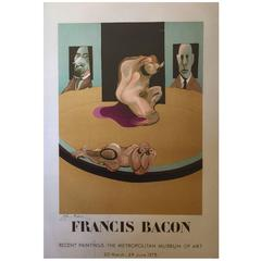 Francis Bacon Lithograph Poster, Signed and Numbered 91/200