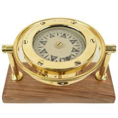 Nautical Liquid Compass Signed Star Boston