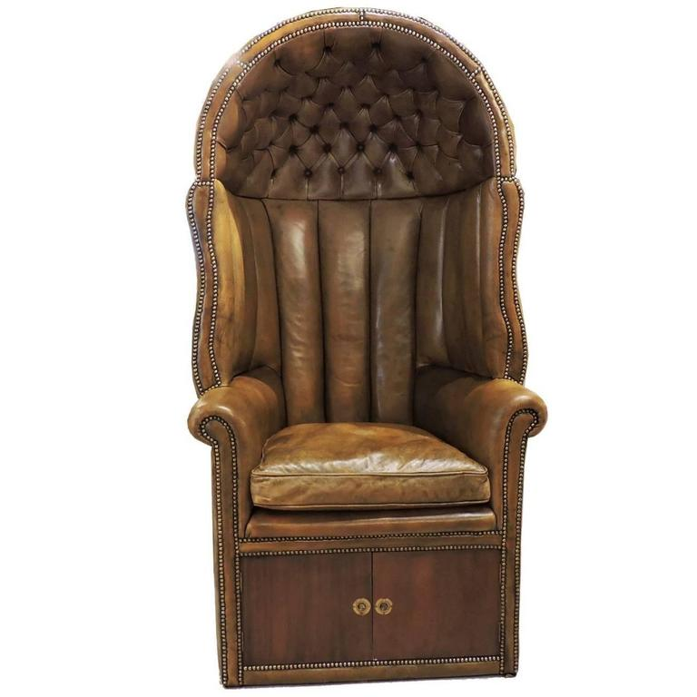 Leather French Regency Style Porter S Chair At 1stdibs