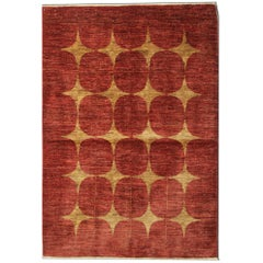 Modern Rugs Orange Fine Contemporary Rugs, Carpet from Afghanistan