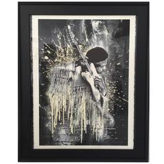 "Jimi Hendrix Lithograph Framed by, ""Mr. Brainwash"", Signed & Numbered"