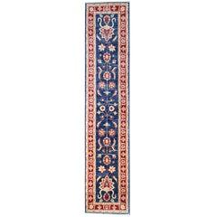 Oriental Rug, Handmade Runner Rugs, Afghan Rugs Floral Stair Runners Blue Carpet