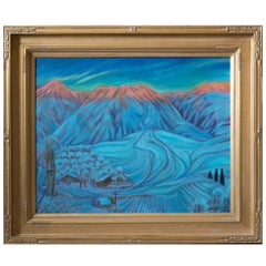 """Sledding Hill"" by Utah artist Dennis Smith"
