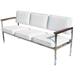 Vintage Mid-Century Steel Case Three-Seat Sofa