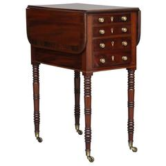 19th Century William IV Mahogany Drop-Leaf Side Table