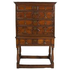 Charles II Oak Chest on Stand