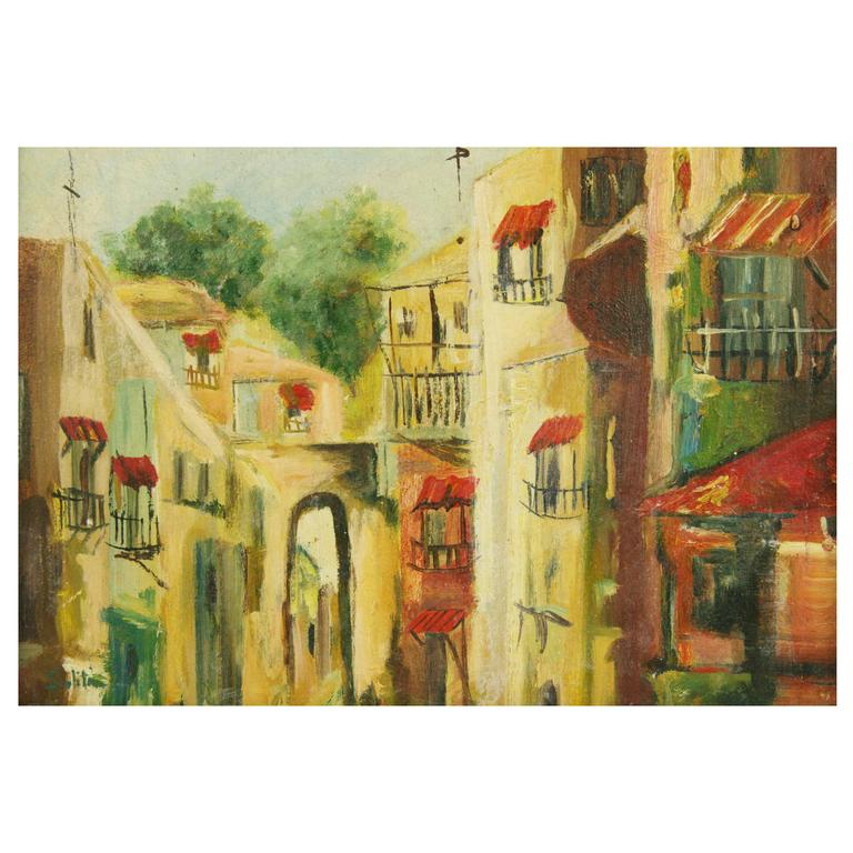 French Village Painting by Saliti