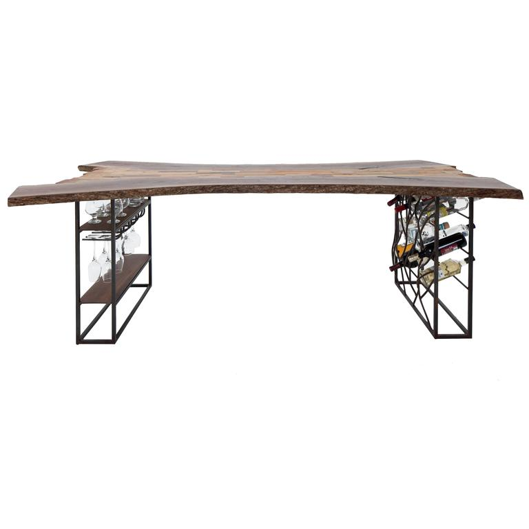 Raw Craft Table and Wine Rack One of a Kind, Handcrafted with Anthony Bourdain 1
