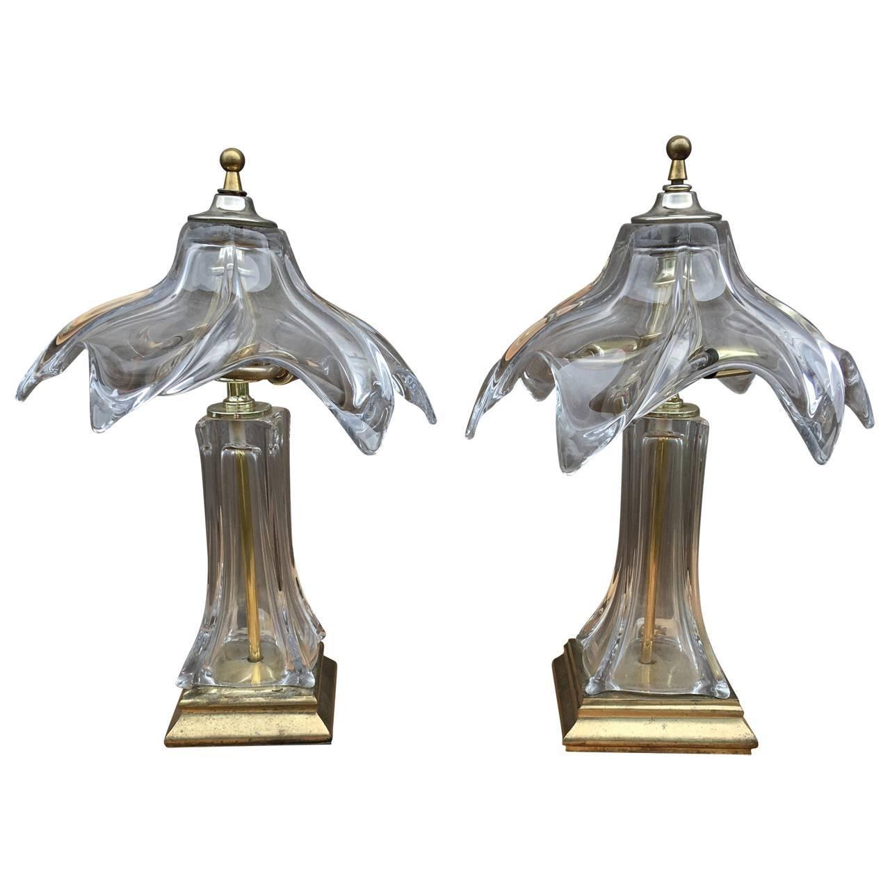 Pair of Murano Glass Lamps, circa 1960's