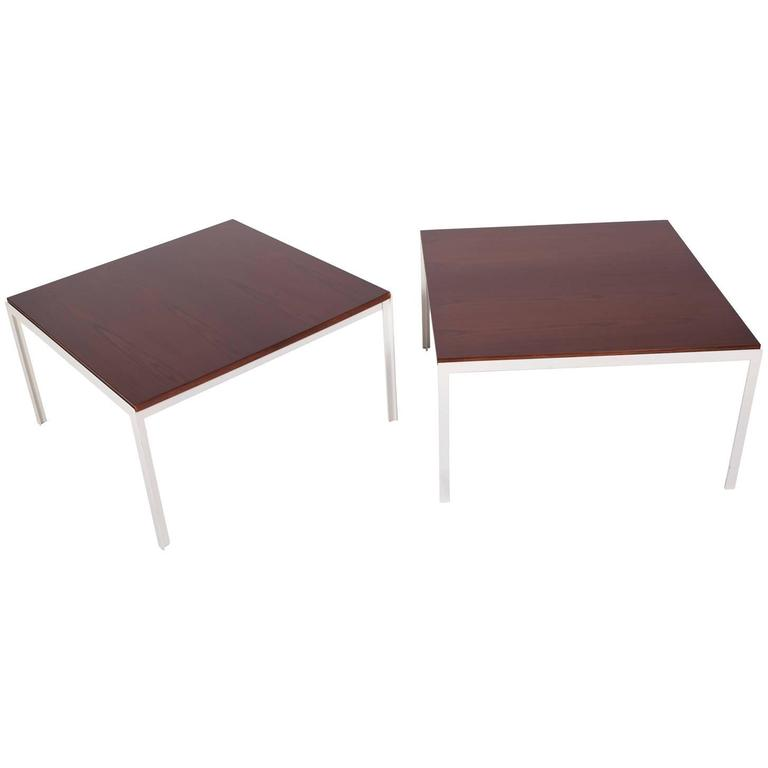 Pair of T-Angle Side Tables by Florence Knoll