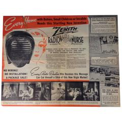 Original Brochure for Isamu Noguchi's Radio Nurse for Zenith