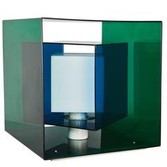 Rare Kinetic Cube Table Lamp by Stilnovo