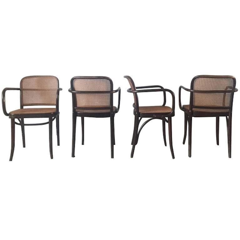 Josef Hoffman, Bentwood And Cane U0027u0027Pragueu0027u0027 Chairs, ...