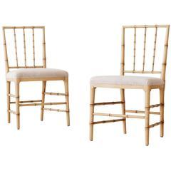 Pair of 19th Century Gustavian Dinning Chairs