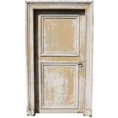 Set of Four 19th Century Oak French Doors with Frames and Architrave
