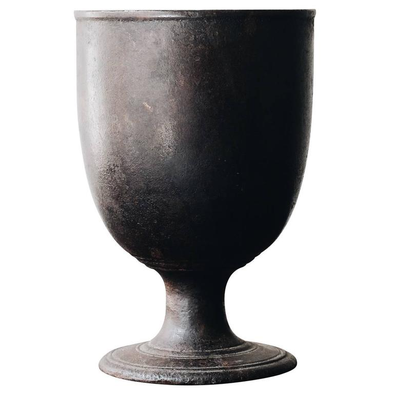 18th Century Swedish Cast Iron Mortar For Sale