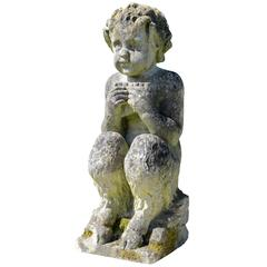 Stone Statue of a Little Satyr, 19th Century