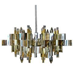 Mid-Century Modern Chandelier Ceiling Light Lamp Gaetano Sciolari