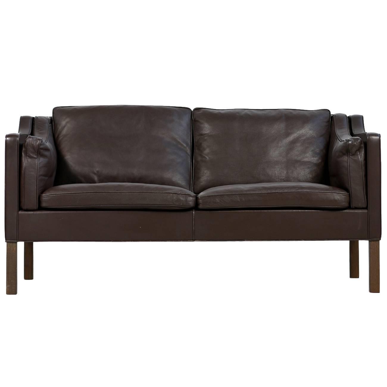 brown 1960s b rge mogensen leather sofa model 2212 danish