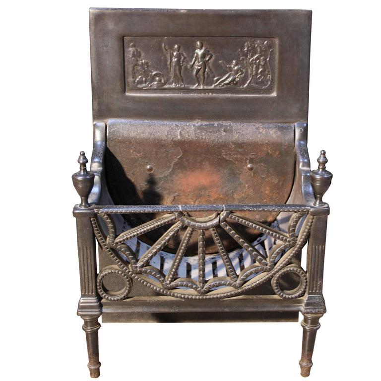Early 19th Century Cast Iron Fire Grate For Sale At 1stdibs