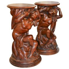 Pair of 19th Century Italian Blackamoor Pedestals