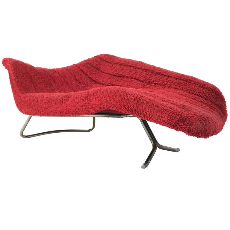 Rare 'Soloform 5008' Chaise Longue by Hans Hartl for Eugen Schmidt Germany, 1953