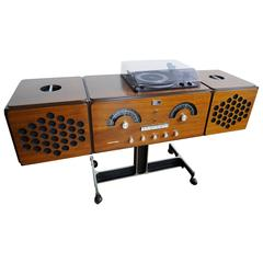 Vintage Brionvega RR 126 FO ST Record Player Turntable Radio from 1965