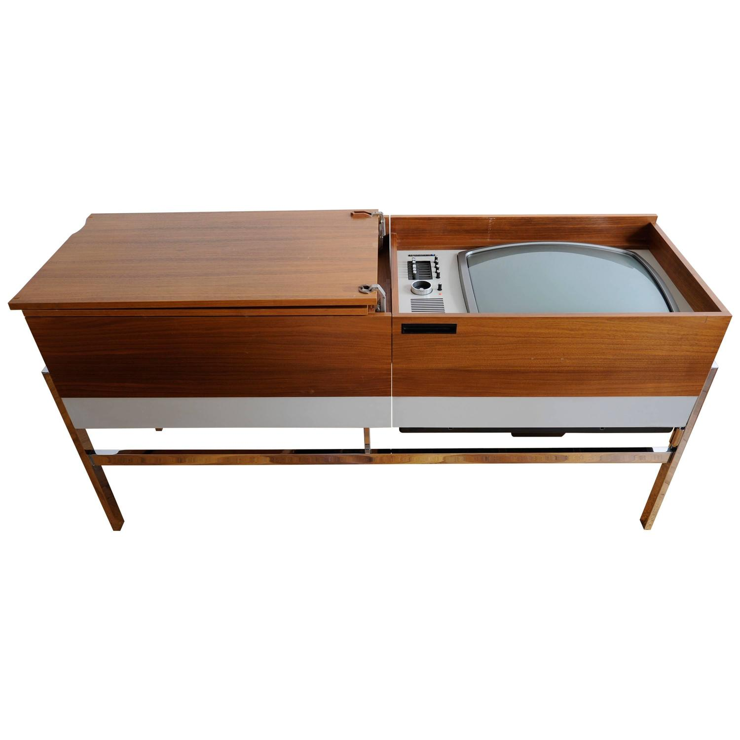 Blaupunkt Colorado Sideboard Hidden Tube Tv Radio Pe Record Player Turn Table For Sale At 1stdibs