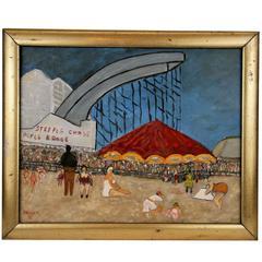 Sunday at Coney Island Painting