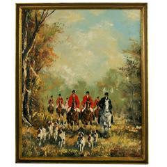English Fox Hunt Painting