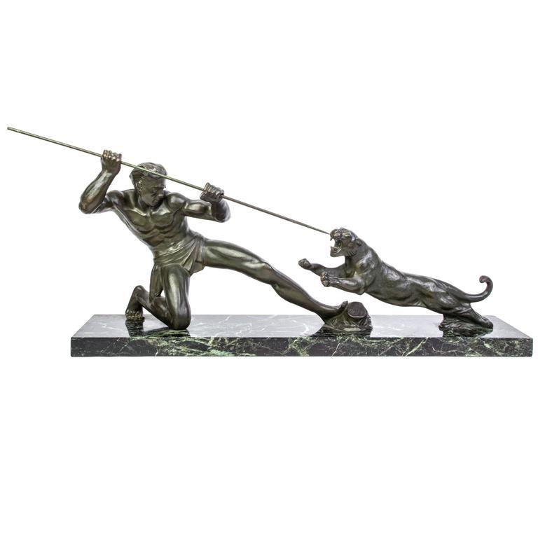 Superb 1930s Art Deco Bronze Sculpture