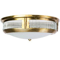 Beautiful 1940s Art Deco Flush Mount Attributed to Perzel