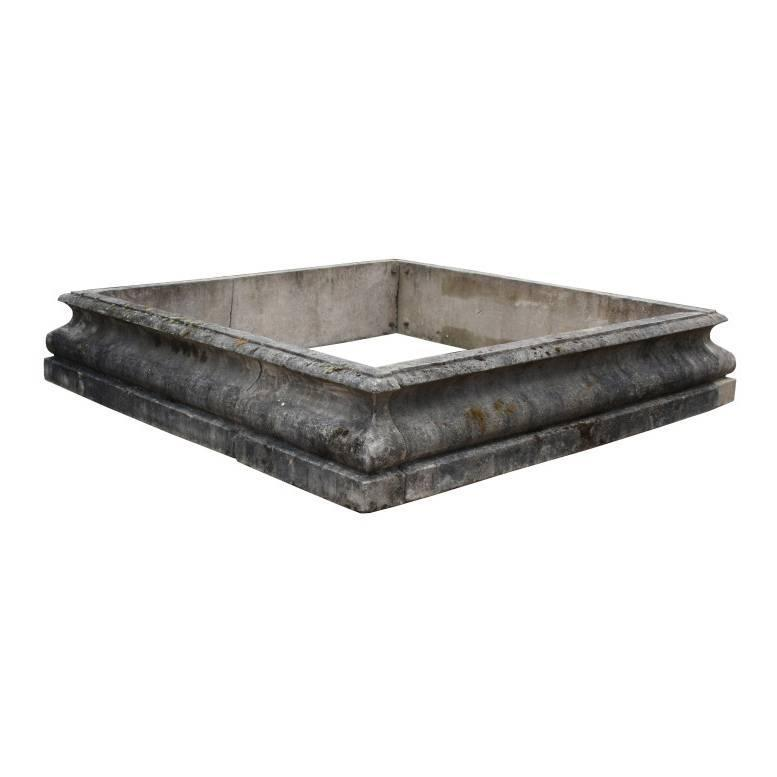 Early 20th Century Composition Stone Pool Fountain Surround For Sale At 1stdibs