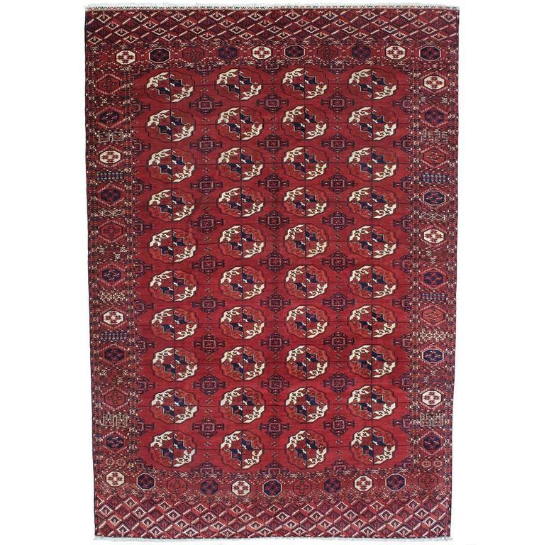 Antique Turkmen Main Carpet For Sale