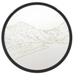 Golden Landscapes Weisshorn, Tapestry with Gold Thread by Philippe Cramer