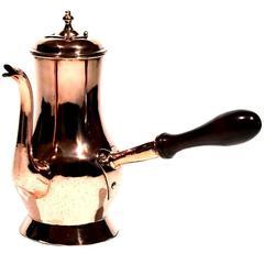 English Copper Chocolate Pot 18th Century