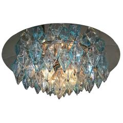 Pair of Mid-Century Glass Ceiling Fixtures