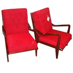 Pair of Mid-Century Modern Style Lounge Chairs