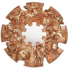 Gilded Zodiac Circular Wall Mirror