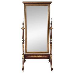 Fine 19th Century Bronze-Mounted Cheval Mirror