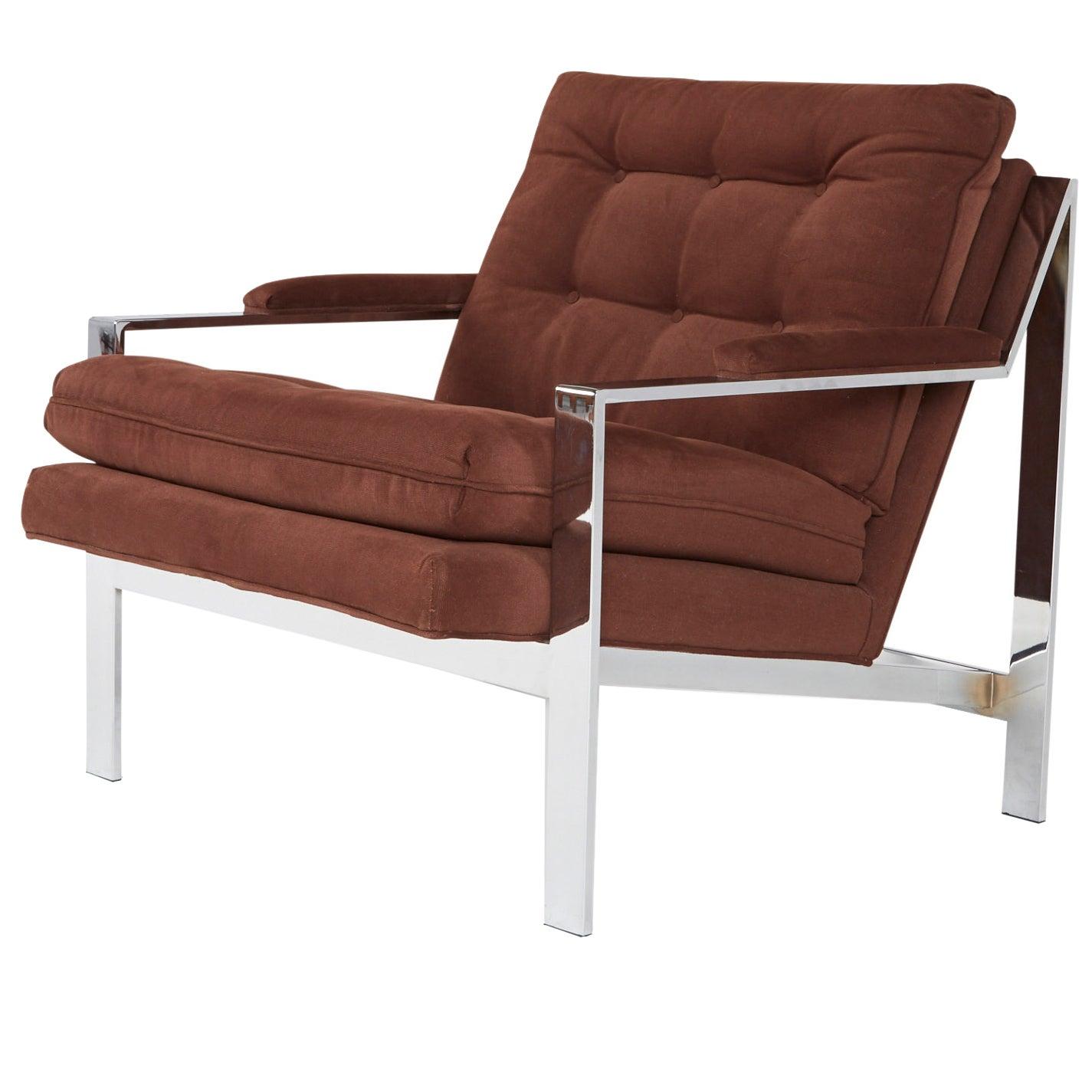 Cy Mann Chrome Lounge Chair for Cy Mann Designs Ltd, circa 1970s