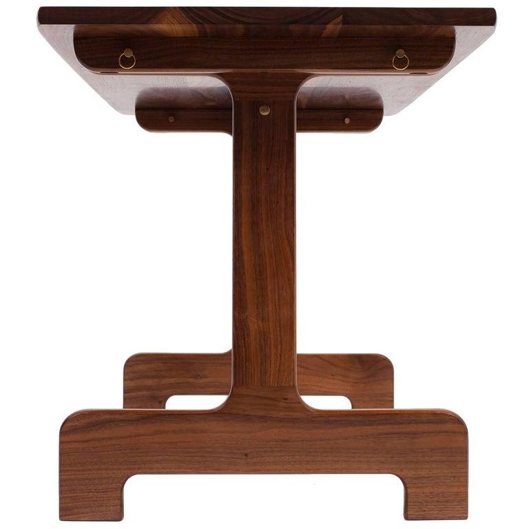 Asa Pingree Physalia Desk in Walnut, White Oak, Ebonized Maple or Fog Gray Ash