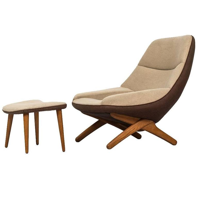 Illum Wikkelsø Easy Chair Model ML-91 by Michael Laursen in Denmark