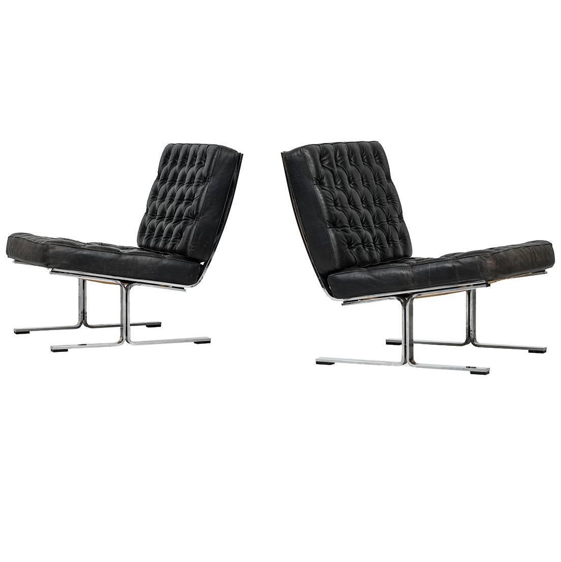 Karl-Erik Ekselius Easy Chairs Model F60 by Joc in Sweden