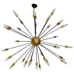 Italian Black Metal and Brass Sputnik, circa 1990s