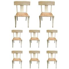 Set of Eight Klismos Chairs Attributed to Therien and Co.
